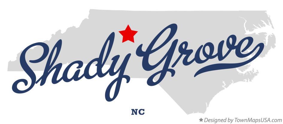 Map Of Shady Grove Davie County Nc North Carolina