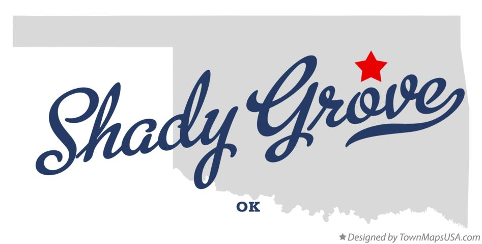 Map of Shady Grove Oklahoma OK