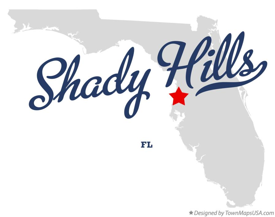 Map of Shady Hills Florida FL