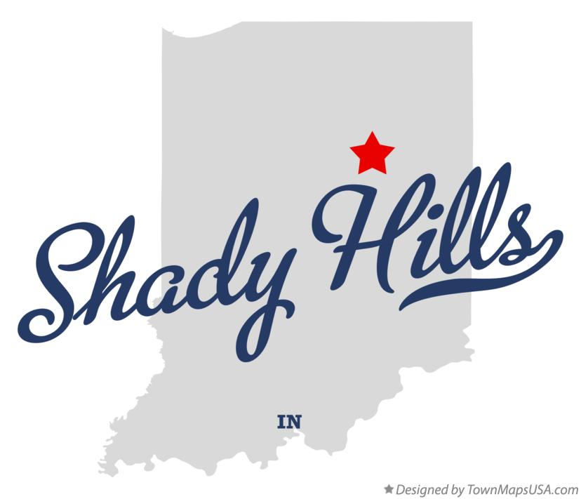 Map of Shady Hills Indiana IN