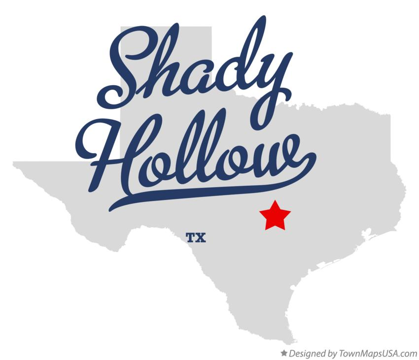 Map of Shady Hollow Texas TX