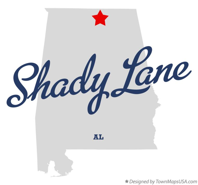 Map of Shady Lane Alabama AL