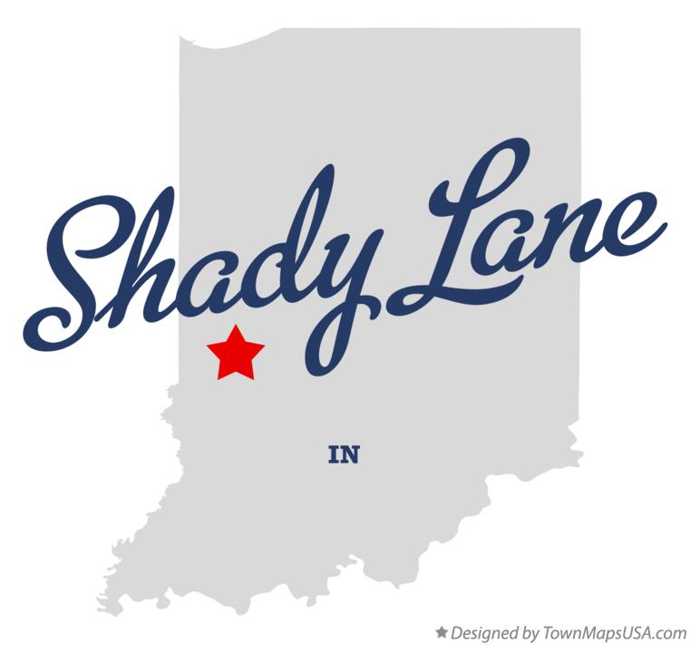 Map of Shady Lane Indiana IN
