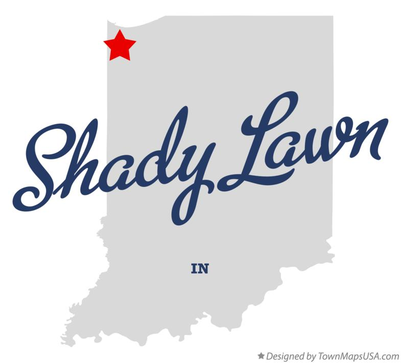 Map of Shady Lawn Indiana IN