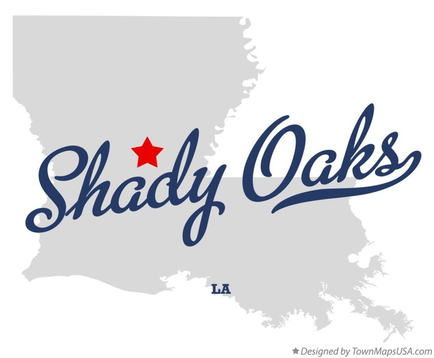 Map of Shady Oaks Louisiana LA