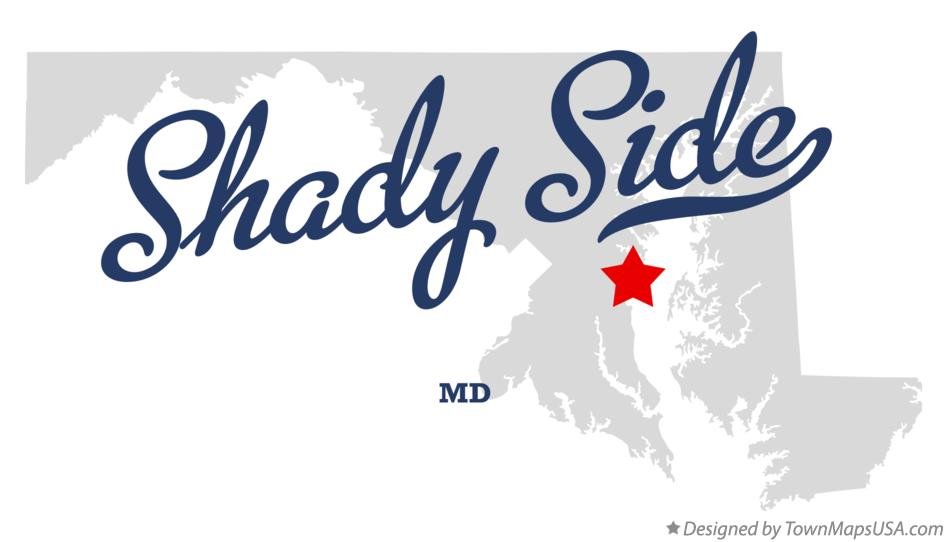 Map of Shady Side Maryland MD