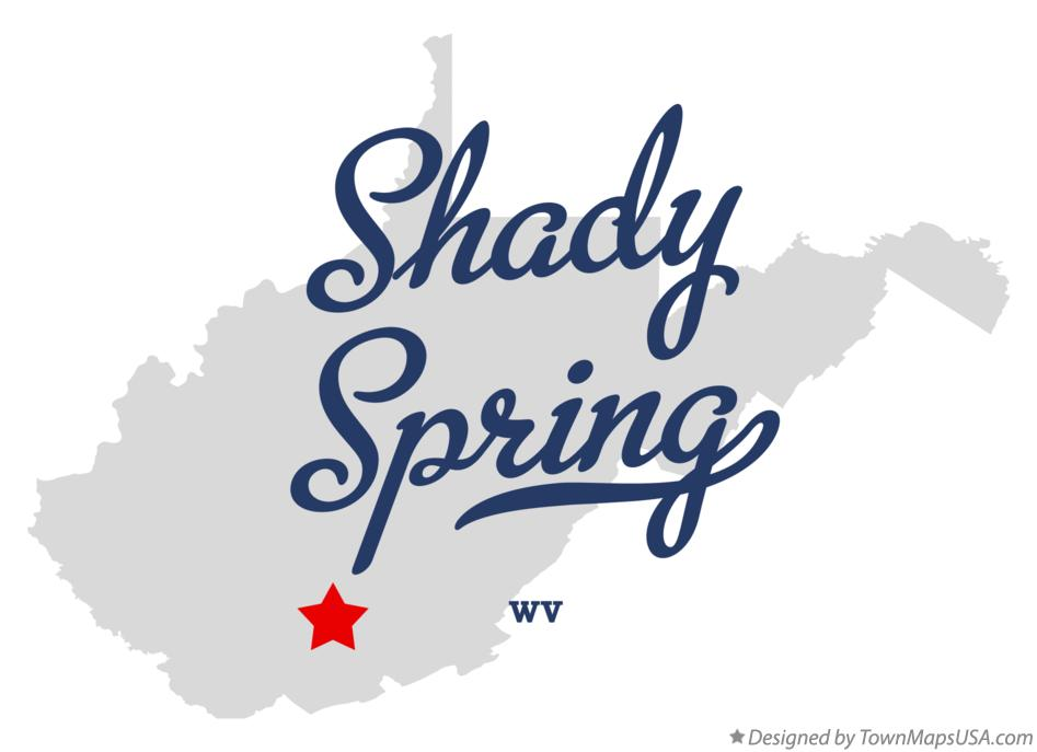 Map of Shady Spring West Virginia WV