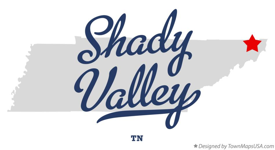 Map of Shady Valley Tennessee TN