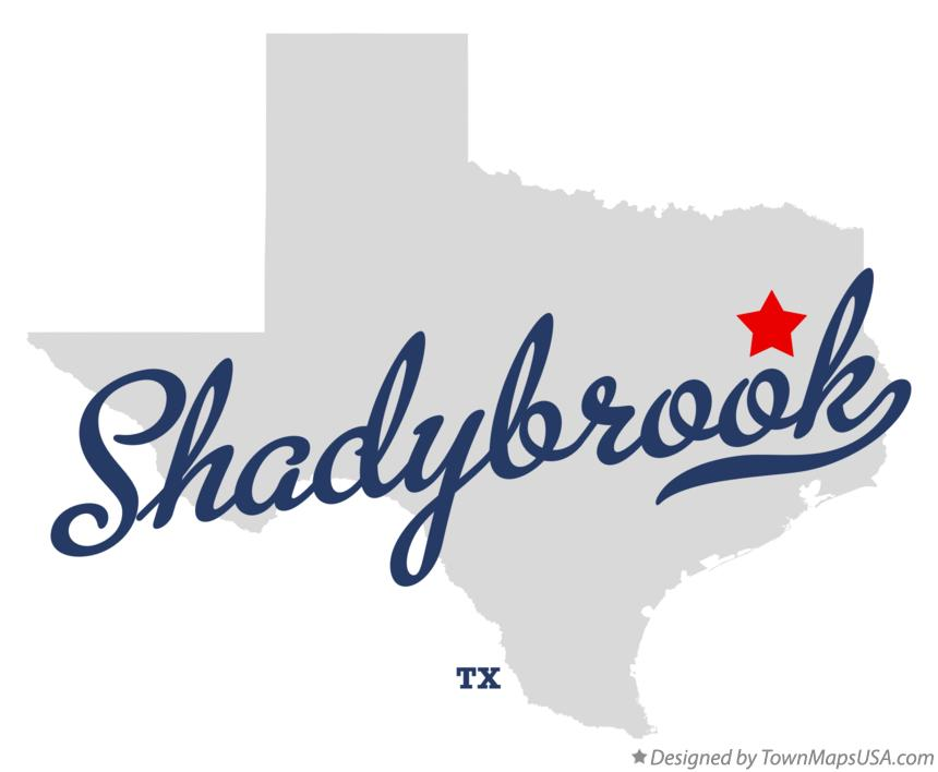 Map of Shadybrook Texas TX