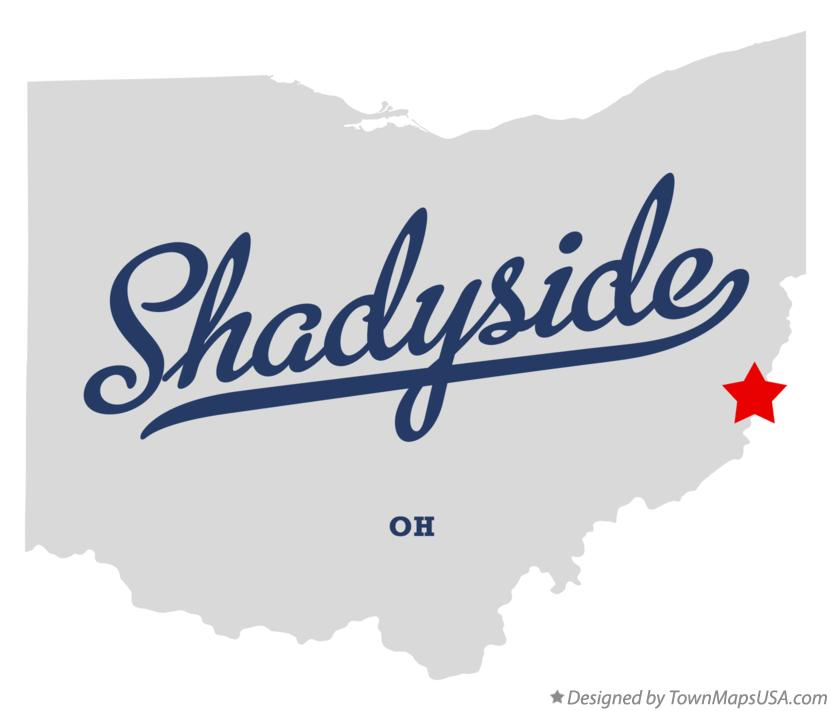 Map of Shadyside Ohio OH