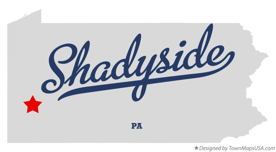 Map of Shadyside Pennsylvania PA