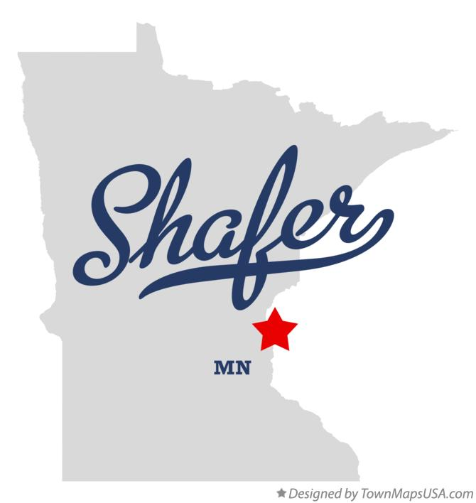 Map of Shafer Minnesota MN