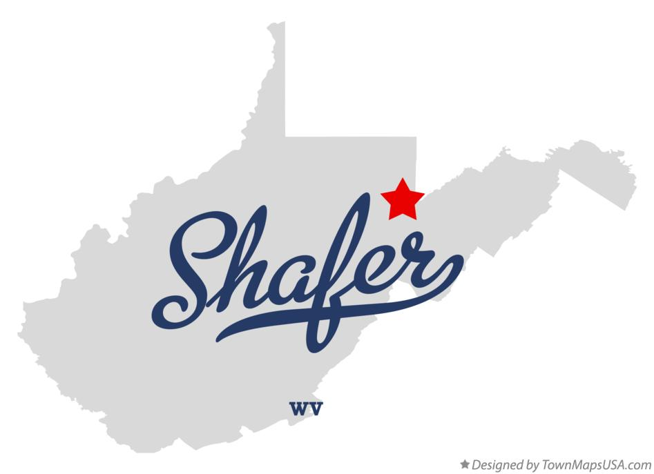 Map of Shafer West Virginia WV