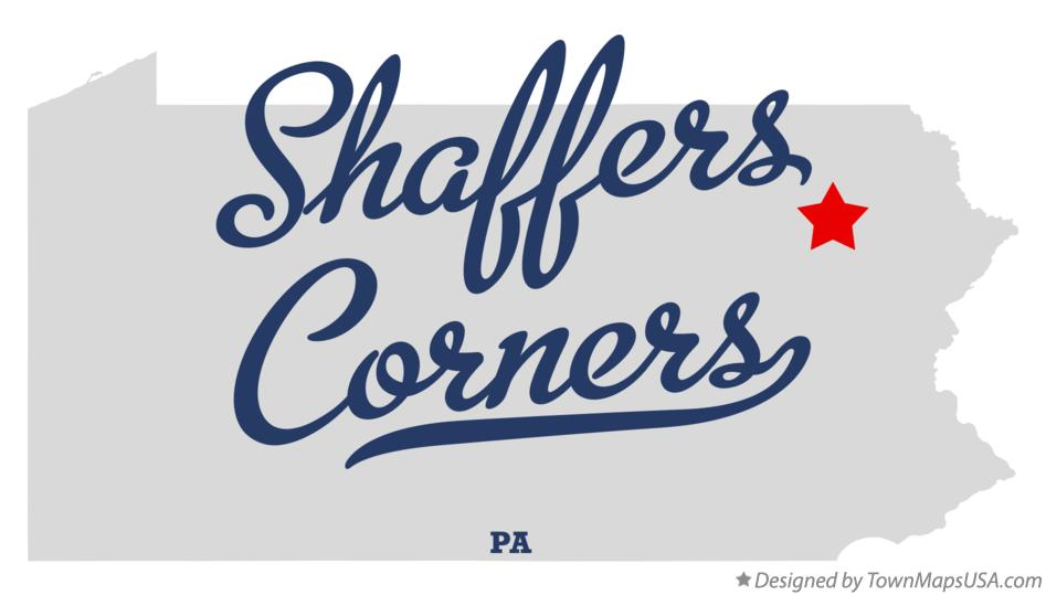 Map of Shaffers Corners Pennsylvania PA