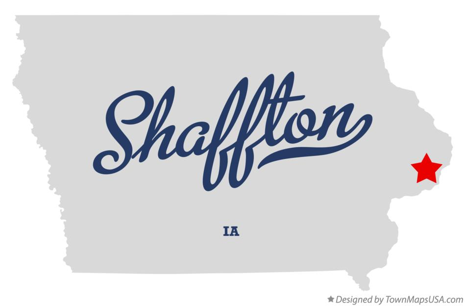 Map of Shaffton Iowa IA
