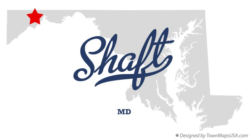 Map of Shaft Maryland MD