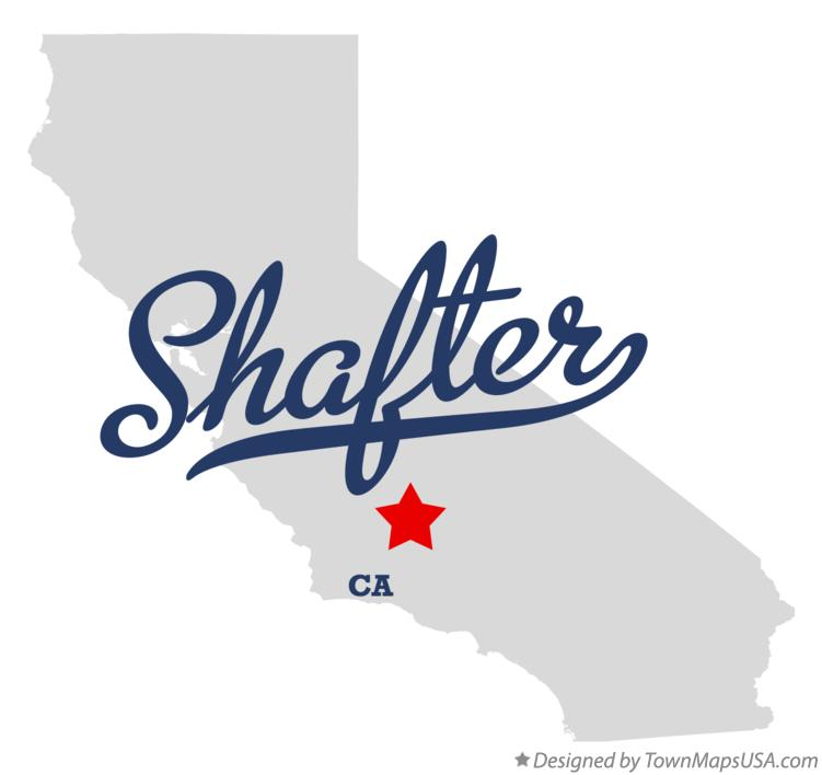 Map of Shafter California CA
