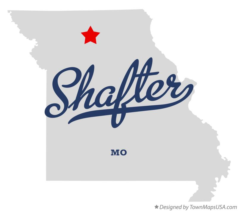 Map of Shafter Missouri MO