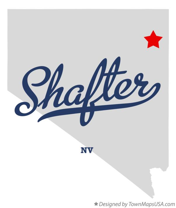Map of Shafter Nevada NV