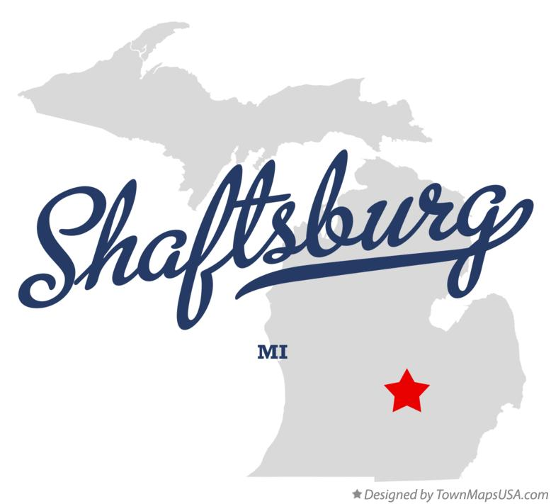 Map of Shaftsburg Michigan MI