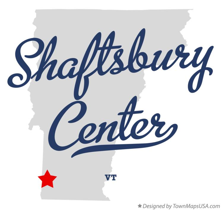 Map of Shaftsbury Center Vermont VT
