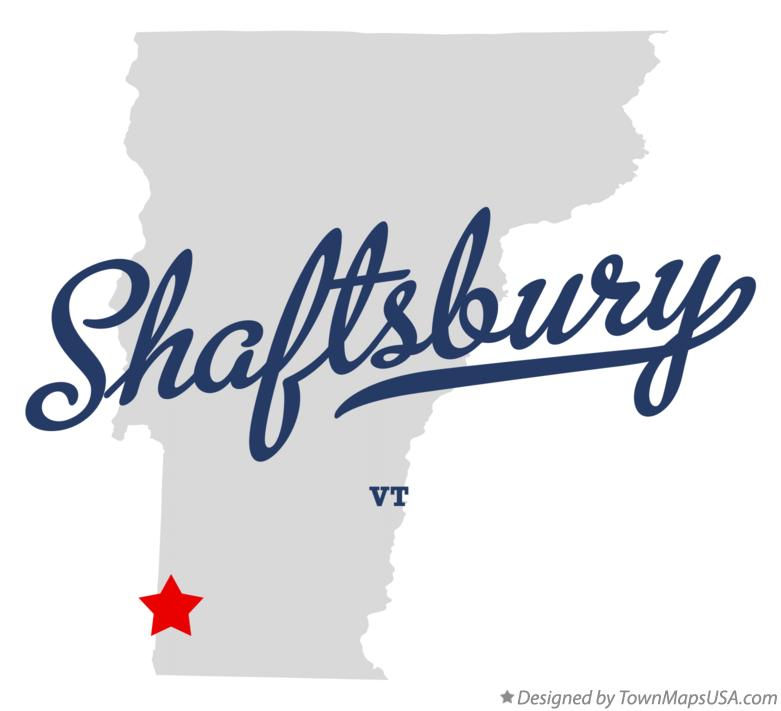 Map of Shaftsbury Vermont VT