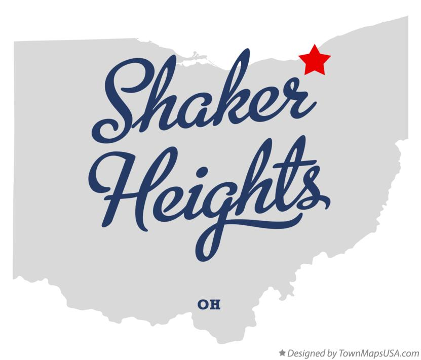 Map of Shaker Heights Ohio OH