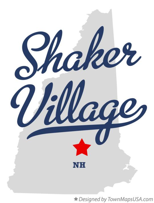 Map of Shaker Village New Hampshire NH