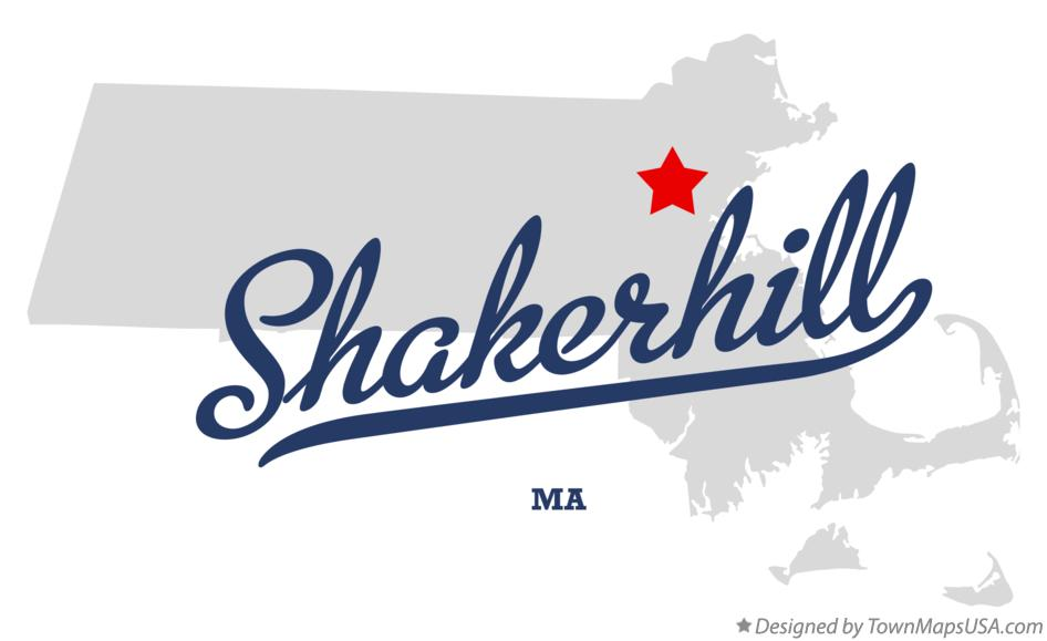 Map of Shakerhill Massachusetts MA