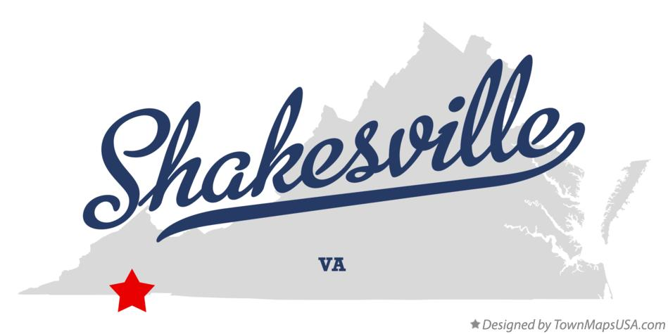 Map of Shakesville Virginia VA