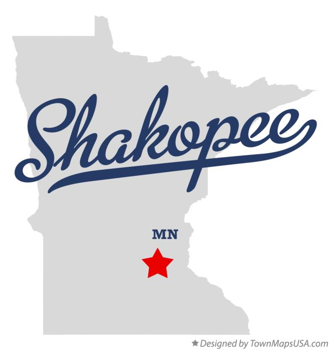 Map of Shakopee Minnesota MN