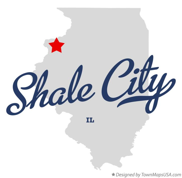 Map of Shale City Illinois IL