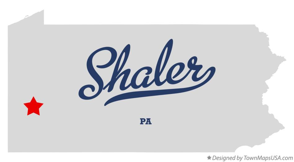 Map of Shaler Pennsylvania PA