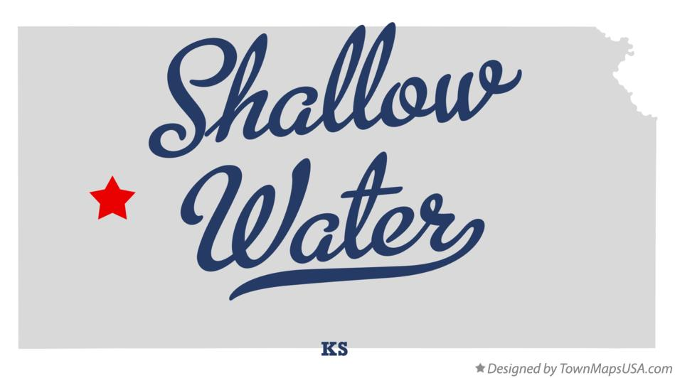 Map of Shallow Water Kansas KS