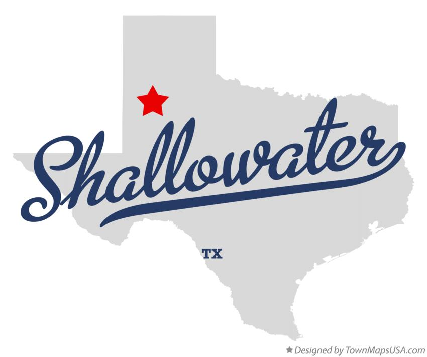 Map of Shallowater Texas TX