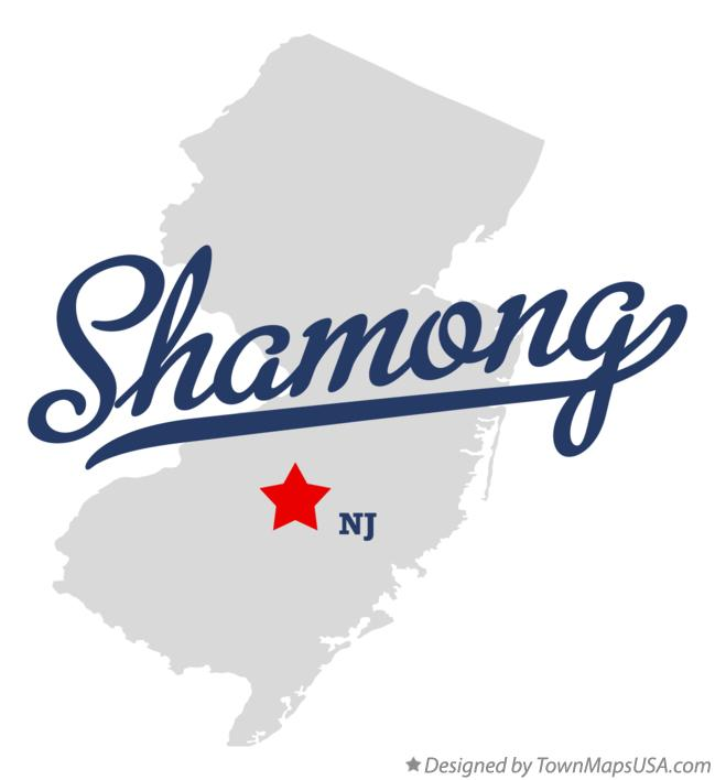 Map of Shamong New Jersey NJ
