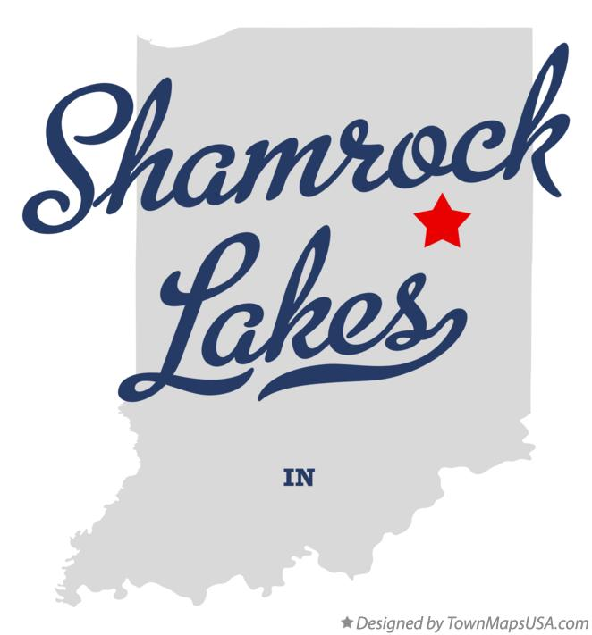 Map of Shamrock Lakes Indiana IN