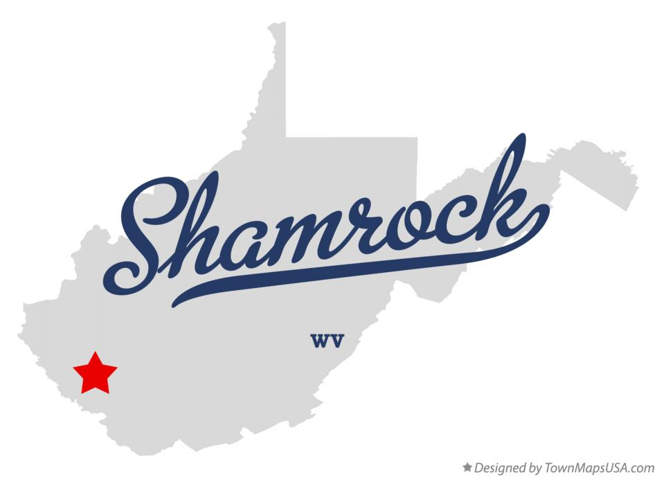 Map of Shamrock West Virginia WV