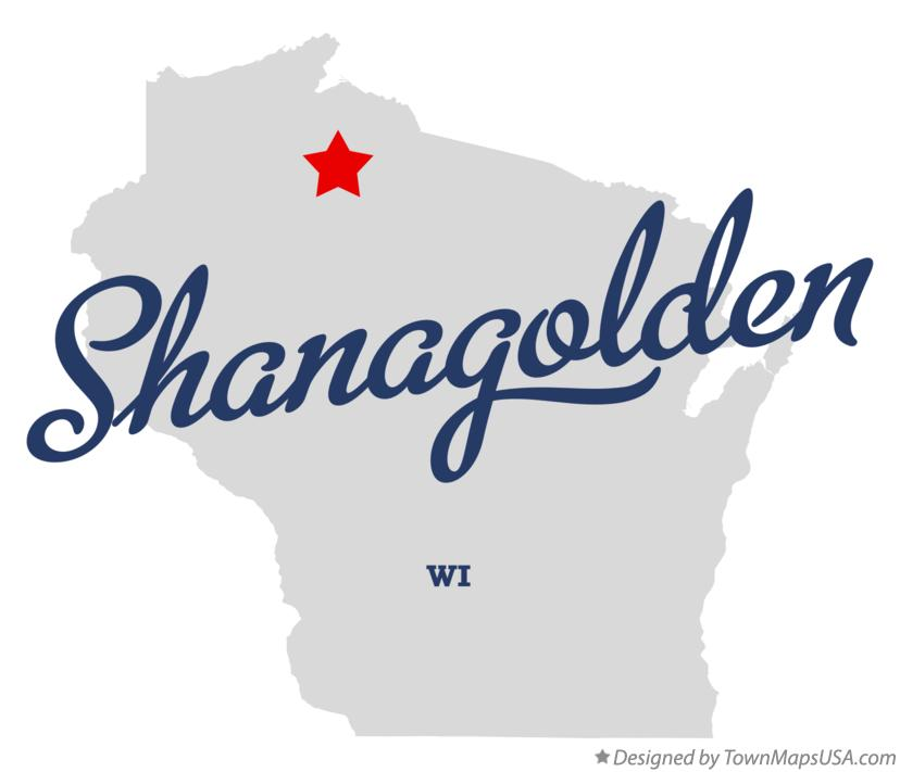 Map of Shanagolden Wisconsin WI