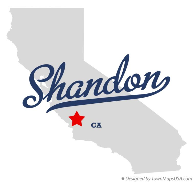 Map of Shandon California CA