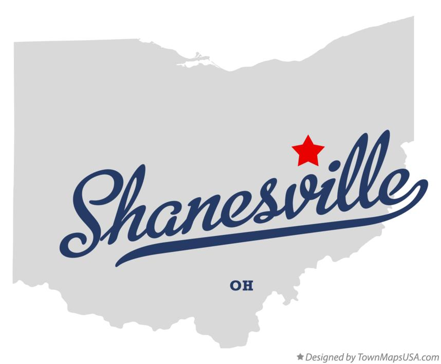 Map of Shanesville Ohio OH