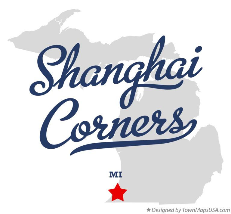Map of Shanghai Corners Michigan MI
