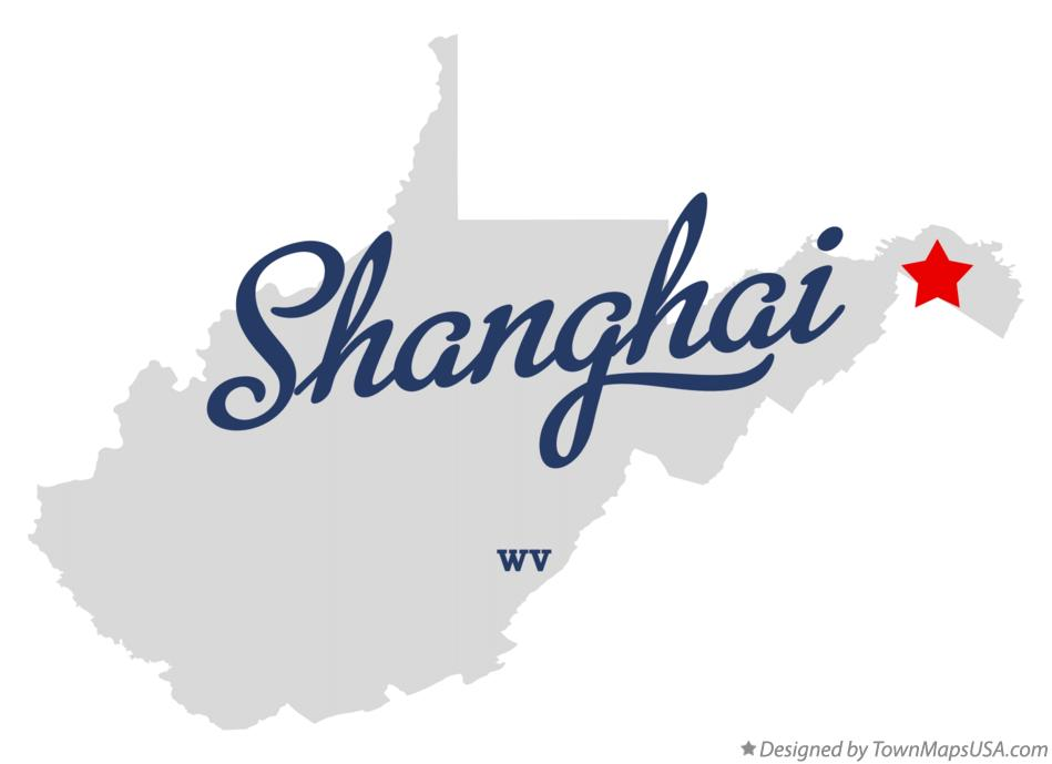 Map of Shanghai West Virginia WV