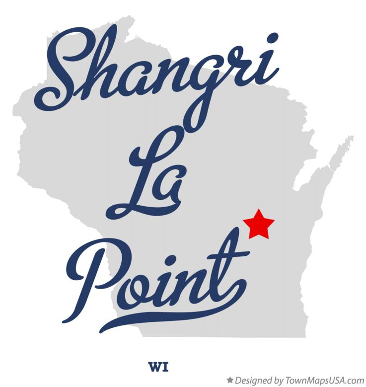 Map of Shangri La Point Wisconsin WI