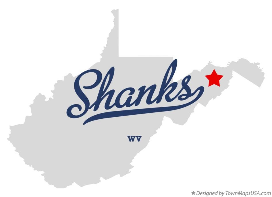 Map of Shanks West Virginia WV