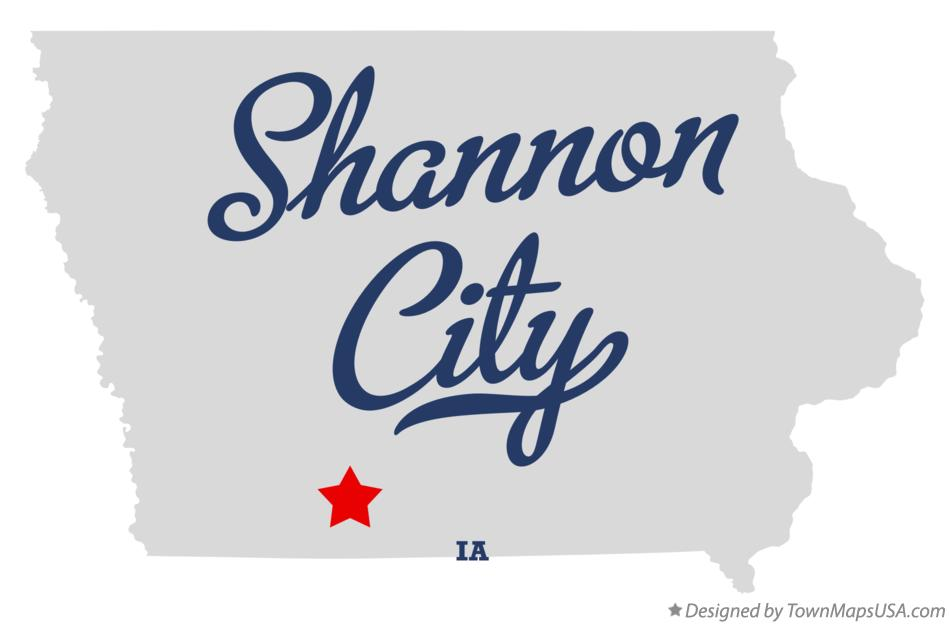 Map of Shannon City Iowa IA