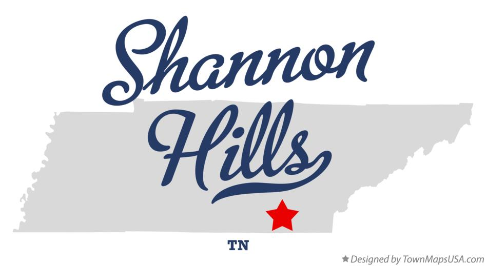 Map of Shannon Hills Tennessee TN