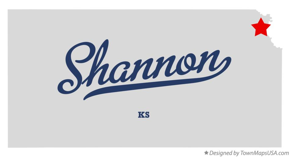 Map of Shannon Kansas KS