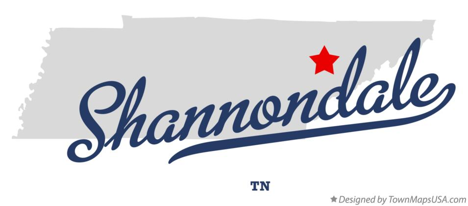 Map of Shannondale Tennessee TN
