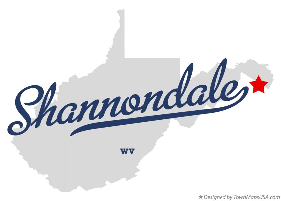 Map of Shannondale West Virginia WV